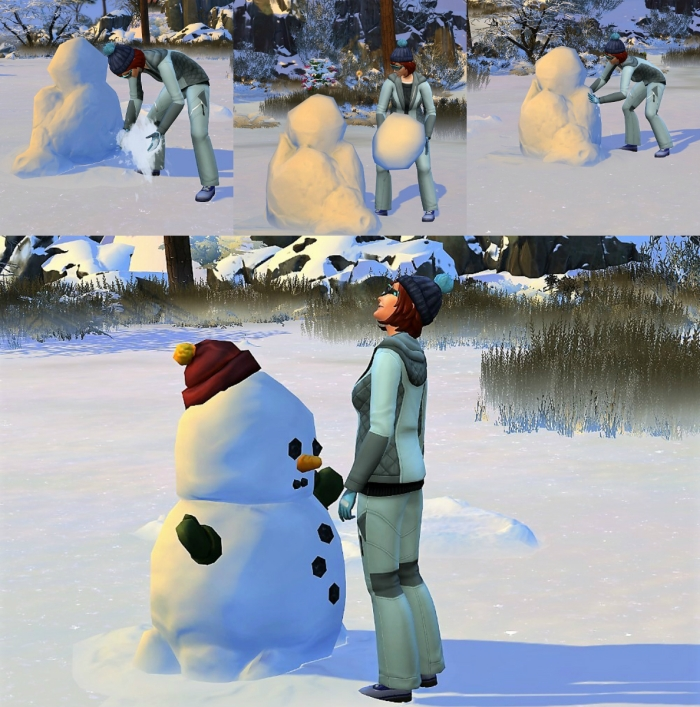 collage snow man