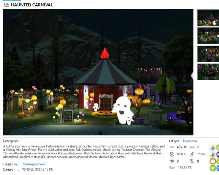 alleged simmer haunted carnival